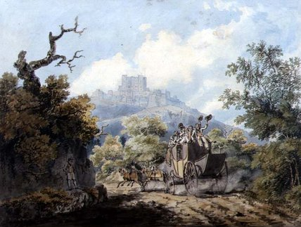 Order Oil Painting : The Dover Mail, C.1793 by Edward Dayes (1763-1804, United Kingdom) | WahooArt.com