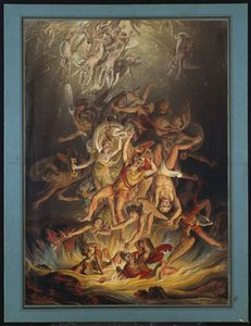 Order Art Reproduction : The Fall Of The Angels,, 1798 by Edward Dayes (1763-1804, United Kingdom) | WahooArt.com