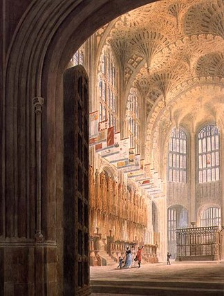 Order Famous Paintings Reproductions : The Henry Vii Chapel, Westminster by Edward Dayes (1763-1804, United Kingdom) | WahooArt.com