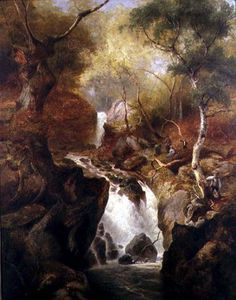 Edward Henry Holder - Waterfall Through A Woodland