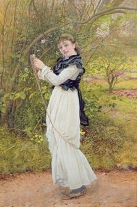 Edward Killingworth Johnson - Portrait Of The Artist's Daughter
