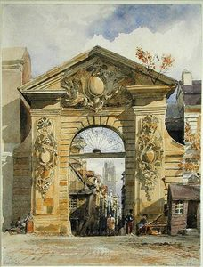 Edward William Cooke - Porte Guillaume Leon, Rouen On