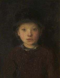 Edward William Stott - Study Of A Girl's Head