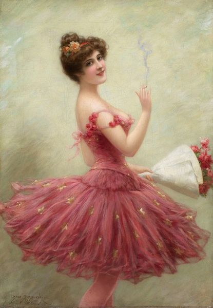 Coquette by Emile Eisman Semenowsky (1859-1911) | Oil Painting | WahooArt.com