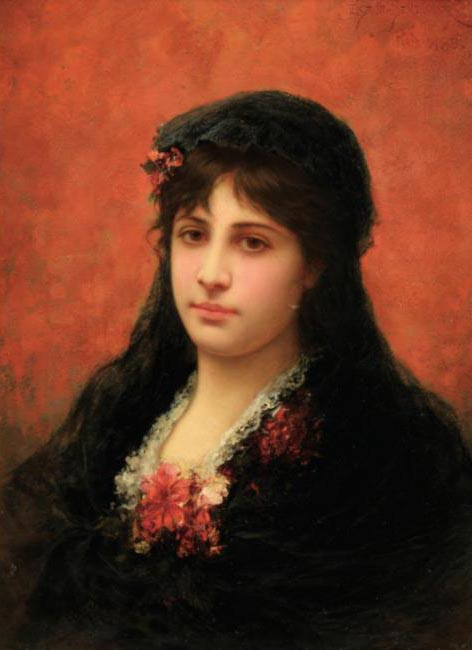 Ortrait Of A Spanish Woman by Emile Eisman Semenowsky (1859-1911)