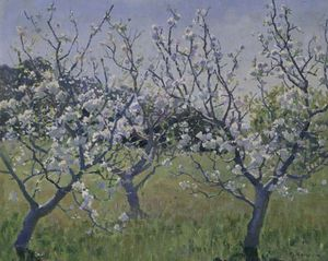 Elioth Gruner - Spring In The Orchard
