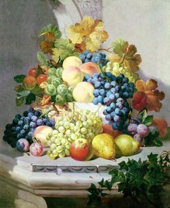 Eloise Harriet Stannard - Still Life With Grapes And Pears