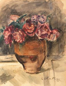 Emile Othon Friesz - A Still Life With Flowers In A Vase