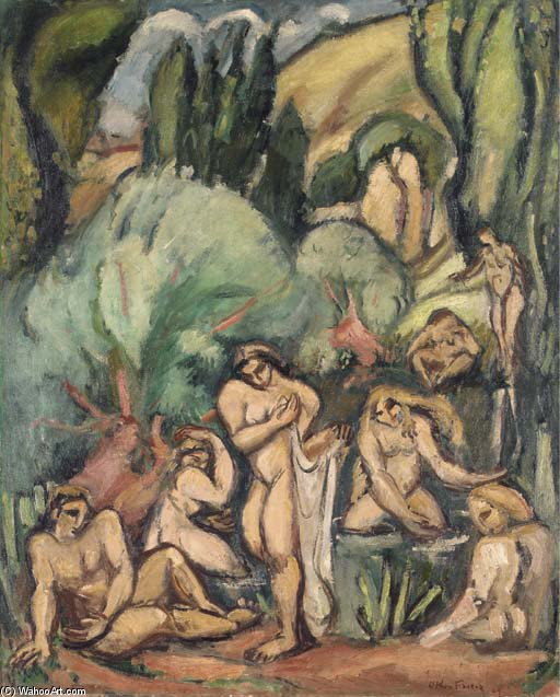 Baigneuses by Emile Othon Friesz (1879-1949, France) | Oil Painting | WahooArt.com