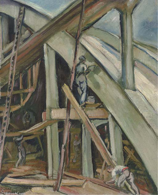 Construction Of Sheds At Istres by Emile Othon Friesz (1879-1949, France) | Painting Copy | WahooArt.com