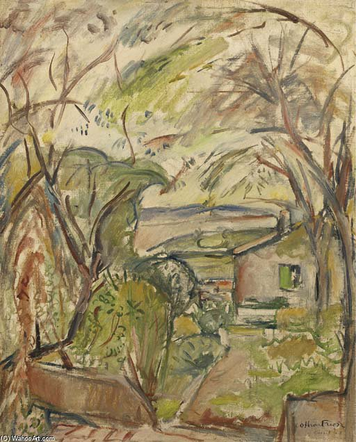 Landscape At Home by Emile Othon Friesz (1879-1949, France)
