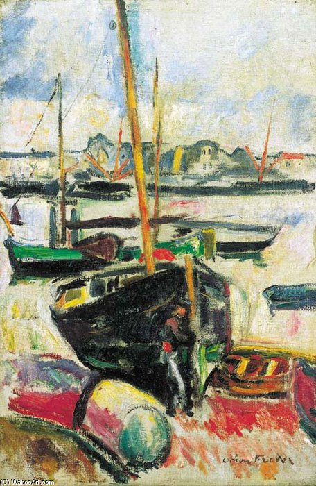Port by Emile Othon Friesz (1879-1949, France) | Art Reproduction | WahooArt.com