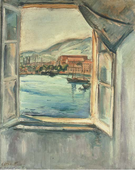Window On The Port Of Toulon by Emile Othon Friesz (1879-1949, France) | Oil Painting | WahooArt.com