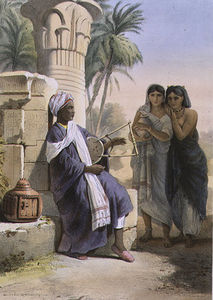 Émile Prisse D'avennes - A Berber Playing The Kissar To Women Of The Same
