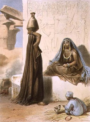 Women Of Middle Egypt by Émile Prisse D'avennes (1807-1879, France) | Oil Painting | WahooArt.com