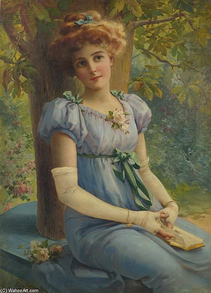 A Sweet Glance by Emile Vernon (1872-1920, France)
