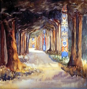 Emily Carr - Totem Walk At Sitka