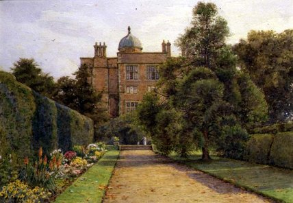 The Long Border by Ernest Arthur Rowe (1863-1922, United Kingdom)
