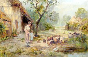 Ernest Charles Walbourn - Feeding The Duck -