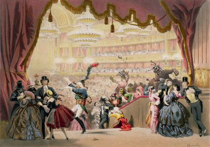 Ball At The Opera by Eugene Charles Francois Guerard (1821-1866, France)
