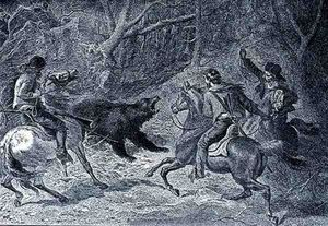 Felix Octavius Carr Darley - Roping A Grizzly