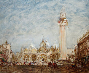 Félix François Georges Philibert Ziem - Saint Mark's Square In Venice