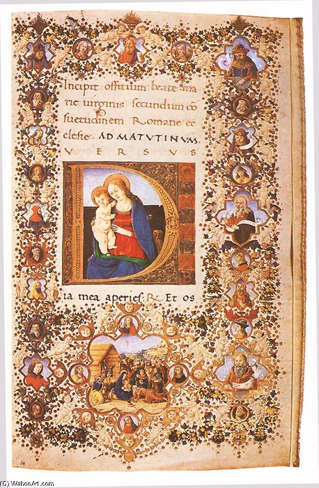 Prayer Book Of Lorenzo De' Medici_2 by Francesco Di Antonio Del Chierico (1433-1484, Italy)