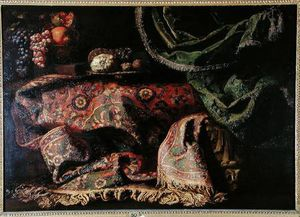 Francesco Fieravino (Il Maltese) - Still Life With A Carpet