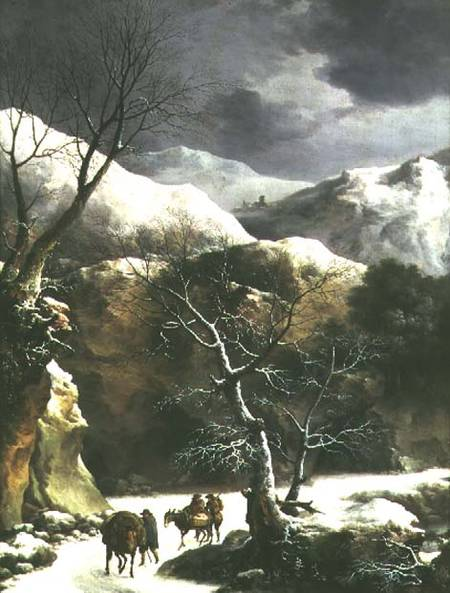 Winter_landscape_pair_81020_hi by Francesco Foschi (1710-1780, Italy) | Famous Paintings Reproductions | WahooArt.com