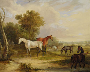Francis Calcraft Turner - Horses Grazing