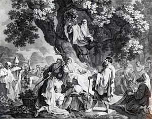 Francis Hayman - The Druids, Or The Conversion Of The Britons To Christianity; Engraved By Simon Francois Ravenet, Pr