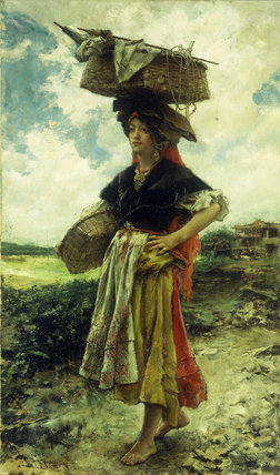Starting Out by Francisco Pradilla Ortiz (1848-1921, Spain)