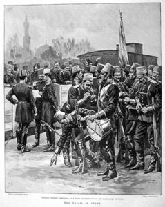 Frank Dadd - Vignette Of Ottoman Troops Awaiting Embarkation At A Train Station On Their Way To The Greek-ottoman Frontier
