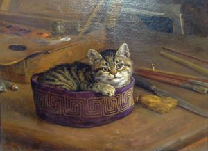 Frank Paton - Study Of A Cat