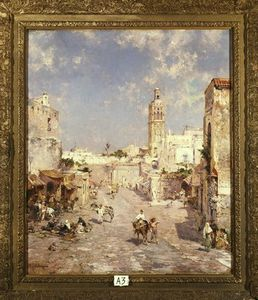Franz Richard Unterberger - Figures In A Moorish Town