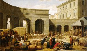 François Bernard Lépicié - The Courtyard Of The Customs House