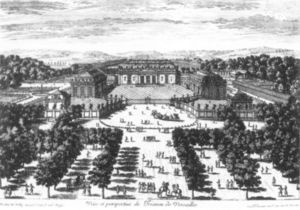 François De Poilly - View And Perspective Of The Trianon At Versailles