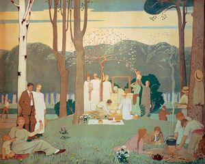 Frederick Cayley Robinson - The Picnic