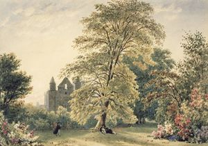 Frederick Nash - New College Gardens At Oxford,