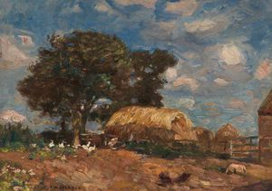 Frederick William Jackson - Farm Scene