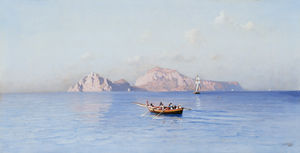 Friedrich Nerly - Look On Capri Of The Northern Side