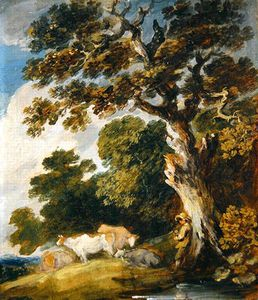 Gainsborouth Dupont - A Wooded Landscape With Cattle And Herdsmen