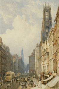 George Shepherd - Fleet Street Looking Up To Temple Bar With Old St....