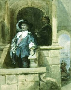 George Cattermole - Sir Thomas Wentworth (afterwards Earl Of Strafford) And John Pym