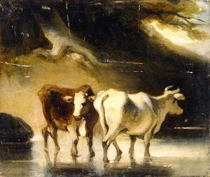 George Chinnery - Two Cows