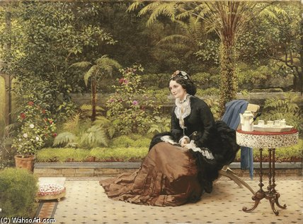 Five O`clock by George Dunlop Leslie (1835-1921, United Kingdom) | Museum Quality Reproductions | WahooArt.com