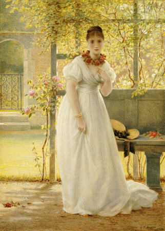 In The Walled Garden - by George Dunlop Leslie (1835-1921, United Kingdom) | Museum Quality Reproductions | WahooArt.com