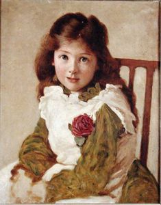 George Dunlop Leslie - Portrait Of The Artist's Daughter