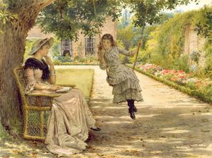 George Goodwin Kilburne - In The Garden
