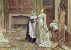George Goodwin Kilburne - The Wedding Dress